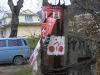 Веломаркування заклеєне передвиборчою агітацією, Косів, Москалівка
