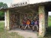 Зупинка «Слобідка» з залишками гарної мозаїки часів Союзу.