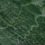 Карта веломаршруту Косів-Замагора (через Верховину)