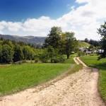 Дорога вкотре розгалужується — наліво шлях в село Снідавку через гору Буковець-Річківський
